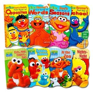 Set Of 8 SESAME STREET Board Books NWOT